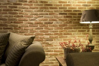 Interiér z obkladových pásků Oud Brabant
