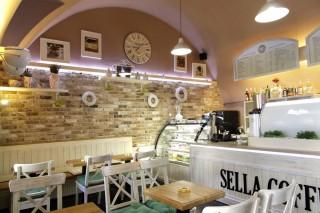 Kavárna z obkladových pásků Brons Rustiek