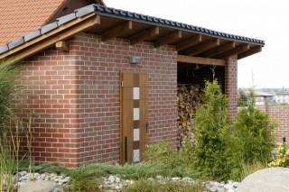 zahradní domek z lícových cihel