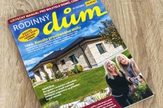 Dům byl zveřejněn v časopise na titulní straně
